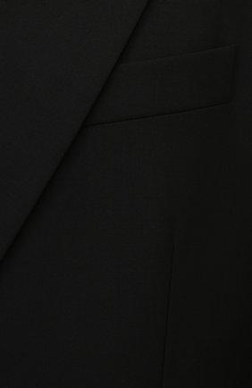 Мужской пиджак VALENTINO черного цвета, арт. VV0CEC806DP   Фото 5 (Материал внешний: Шерсть, Синтетический материал; Рукава: Длинные; Случай: Вечерний; Длина (для топов): Стандартные; Пиджаки М: Свободный; Стили: Минимализм; 1-2-бортные: Двубортные; Материал подклада: Купро)