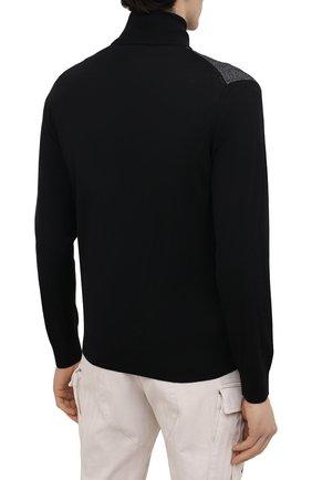 Мужской кардиган из шелка и шерсти BRIONI темно-серого цвета, арт. UMT20L/P0K29   Фото 4