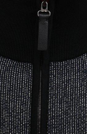 Мужской кардиган из шелка и шерсти BRIONI темно-серого цвета, арт. UMT20L/P0K29   Фото 5