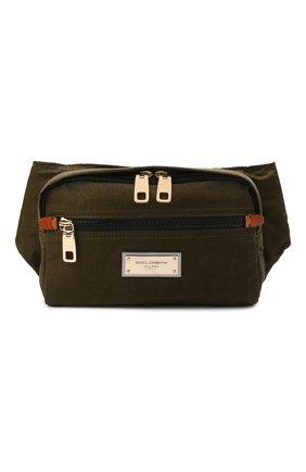 Мужская поясная сумка nero sicilia dna DOLCE & GABBANA хаки цвета, арт. BM1967/A0244 | Фото 1