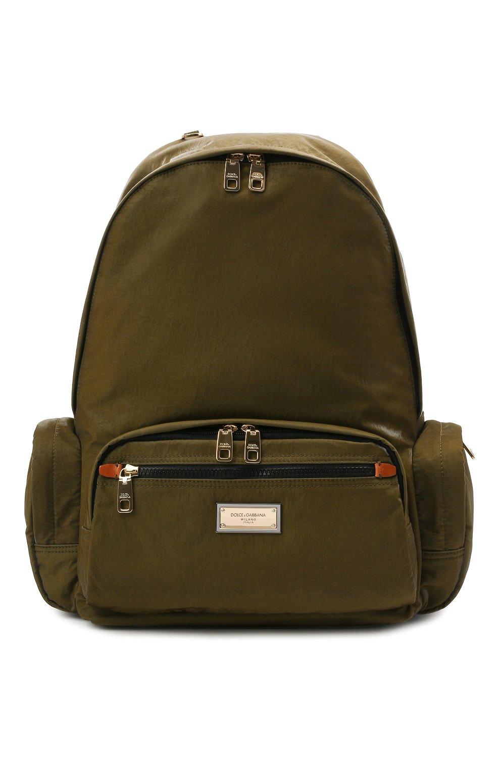 Мужской рюкзак nero sicilia dna DOLCE & GABBANA хаки цвета, арт. BM1961/A0244   Фото 1