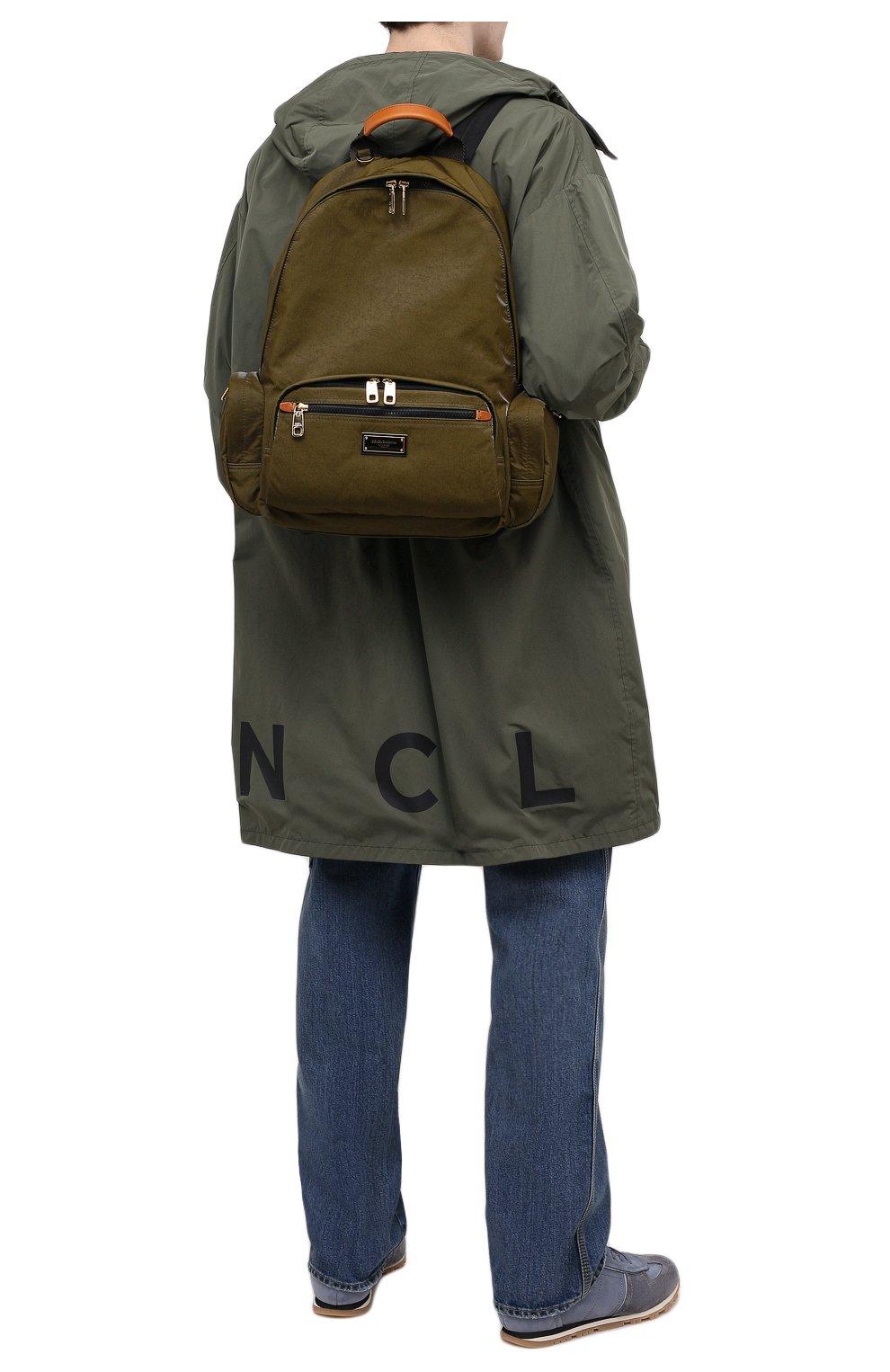 Мужской рюкзак nero sicilia dna DOLCE & GABBANA хаки цвета, арт. BM1961/A0244   Фото 2