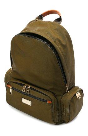 Мужской рюкзак nero sicilia dna DOLCE & GABBANA хаки цвета, арт. BM1961/A0244   Фото 4