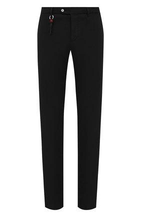 Мужские брюки из хлопка и шелка MARCO PESCAROLO черного цвета, арт. SLIM80/4301 | Фото 1