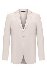 Мужской хлопковый пиджак BRIONI кремвого цвета, арт. SGMR0L/P0009/PLUME | Фото 1