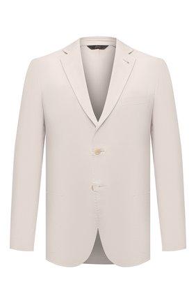 Мужской хлопковый пиджак BRIONI кремвого цвета, арт. SGMR0L/P0009/PLUME   Фото 1