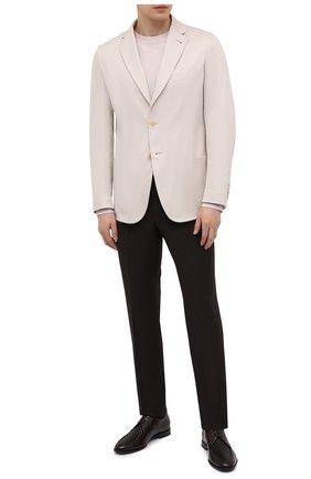 Мужской хлопковый пиджак BRIONI кремвого цвета, арт. SGMR0L/P0009/PLUME   Фото 2