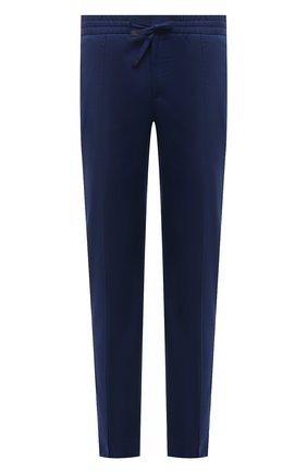 Мужские хлопковые брюки BRIONI темно-синего цвета, арт. RPM20L/P0009/NEW SIDNEY | Фото 1