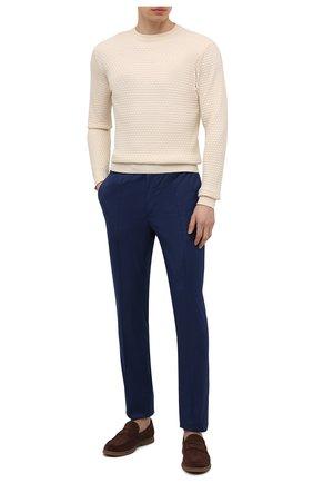 Мужские хлопковые брюки BRIONI темно-синего цвета, арт. RPM20L/P0009/NEW SIDNEY | Фото 2