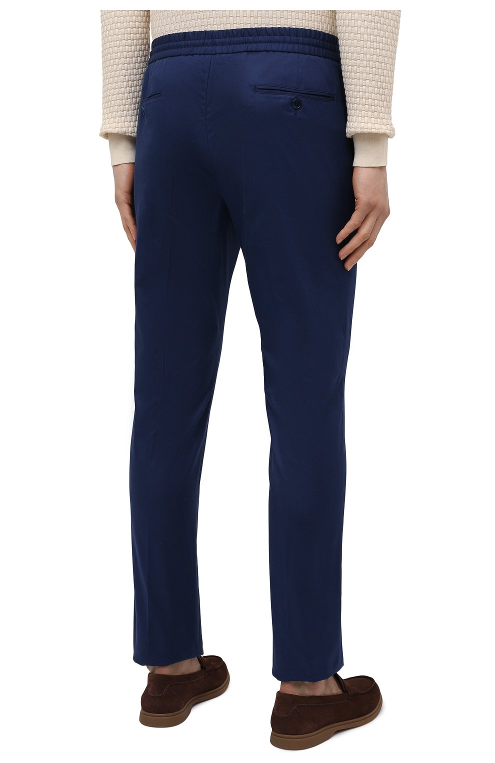 Мужские хлопковые брюки BRIONI темно-синего цвета, арт. RPM20L/P0009/NEW SIDNEY | Фото 4