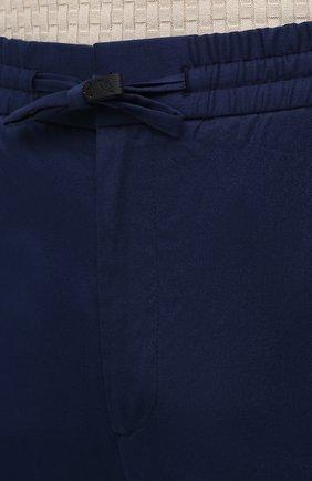 Мужские хлопковые брюки BRIONI темно-синего цвета, арт. RPM20L/P0009/NEW SIDNEY | Фото 5