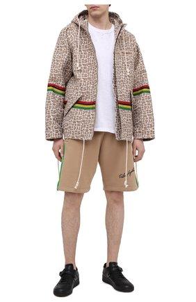 Мужская куртка PALM ANGELS бежевого цвета, арт. PMEA155S21FAB0036110   Фото 2