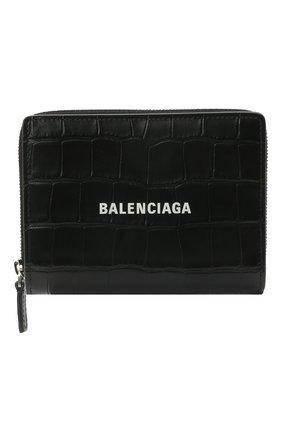Мужской кожаное портмоне BALENCIAGA черного цвета, арт. 650879/1R0P3 | Фото 1