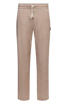 Мужские хлопковые брюки PALM ANGELS бежевого цвета, арт. PMCG002S21FAB0046161 | Фото 1