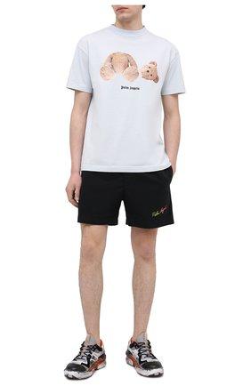 Мужские хлопковые шорты PALM ANGELS черного цвета, арт. PMCB034S21FAB0031084 | Фото 2