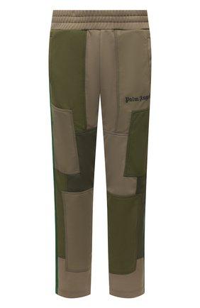 Мужские брюки PALM ANGELS хаки цвета, арт. PMCA087S21FAB0015610 | Фото 1 (Случай: Повседневный; Материал внешний: Синтетический материал; Длина (брюки, джинсы): Стандартные; Стили: Гранж, Милитари)