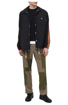 Мужские брюки PALM ANGELS хаки цвета, арт. PMCA087S21FAB0015610 | Фото 2 (Случай: Повседневный; Материал внешний: Синтетический материал; Длина (брюки, джинсы): Стандартные; Стили: Гранж, Милитари)