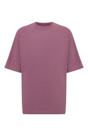 Мужская хлопковая футболка PALM ANGELS фиолетового цвета, арт. PMAA002S21JER0023939 | Фото 1