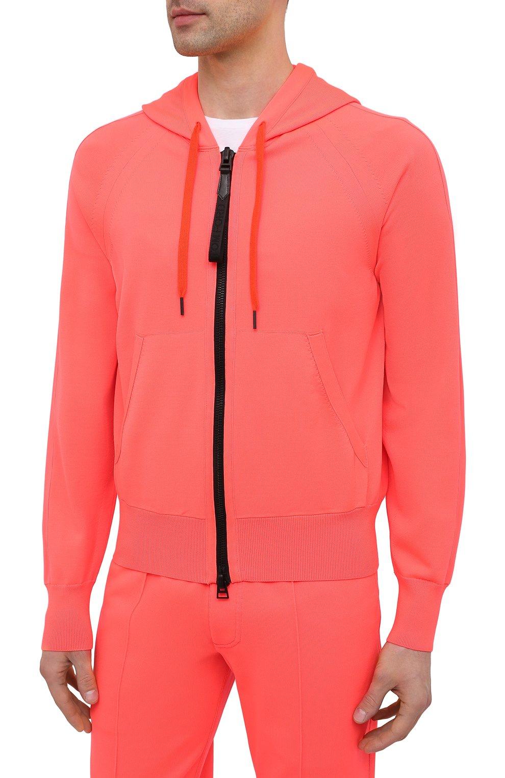 Мужской толстовка TOM FORD оранжевого цвета, арт. BWY22/TFK154   Фото 3