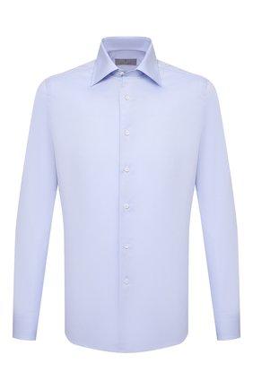 Мужская хлопковая сорочка CANALI голубого цвета, арт. NX05/GR01582 | Фото 1