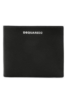 Мужской кожаное портмоне DSQUARED2 черного цвета, арт. WAM0015 01501209 | Фото 1