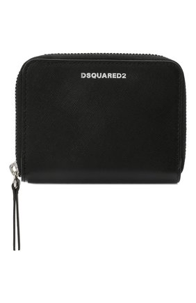 Мужской кожаный кошелек для монет DSQUARED2 черного цвета, арт. WAM0009 01501209 | Фото 1