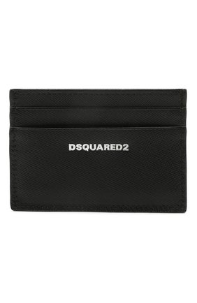 Мужской кожаный футляр для кредитных карт DSQUARED2 черного цвета, арт. CCM0005 01501209 | Фото 1