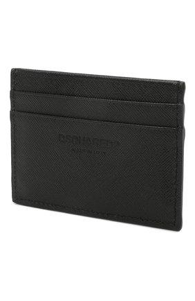 Мужской кожаный футляр для кредитных карт DSQUARED2 черного цвета, арт. CCM0005 01501209 | Фото 2