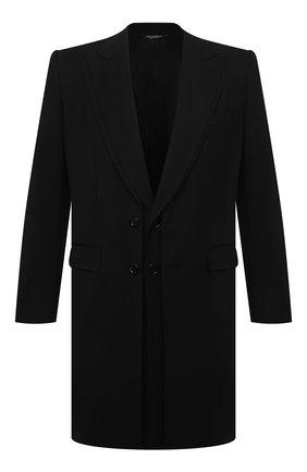 Мужской шерстяное пальто DOLCE & GABBANA черного цвета, арт. G027AT/FUBFD | Фото 1