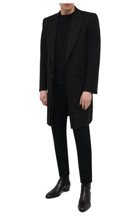 Мужской шерстяное пальто DOLCE & GABBANA черного цвета, арт. G027AT/FUBFD | Фото 2