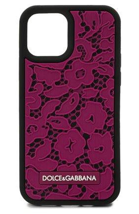 Чехол для iphone 12/12 pro DOLCE & GABBANA фуксия цвета, арт. BI2907/A0700 | Фото 1
