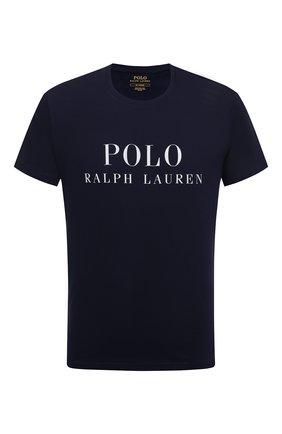 Мужская хлопковая футболка POLO RALPH LAUREN темно-синего цвета, арт. 714830278 | Фото 1