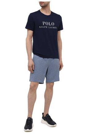 Мужская хлопковая футболка POLO RALPH LAUREN темно-синего цвета, арт. 714830278 | Фото 2