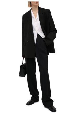 Женская шелковая рубашка RALPH LAUREN белого цвета, арт. 290840121 | Фото 2 (Материал внешний: Шелк; Длина (для топов): Стандартные; Стили: Кэжуэл; Рукава: Короткие; Принт: Без принта; Женское Кросс-КТ: Рубашка-одежда)