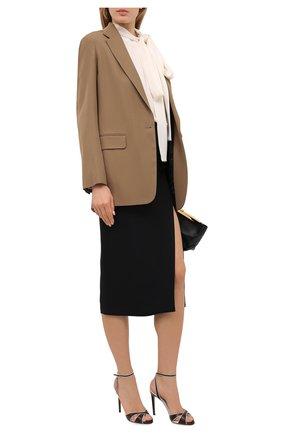 Женские кожаные босоножки deana RALPH LAUREN коричневого цвета, арт. 800841334 | Фото 2 (Материал внутренний: Натуральная кожа; Подошва: Плоская; Каблук тип: Шпилька; Каблук высота: Высокий)