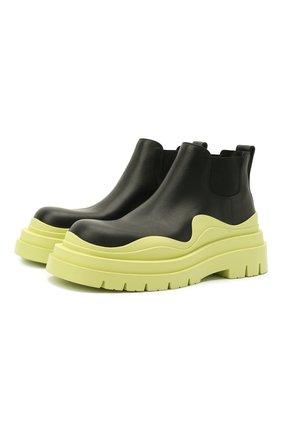 Женские кожаные ботинки bv tire BOTTEGA VENETA зеленого цвета, арт. 630300/VBS50 | Фото 1