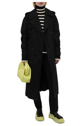 Женские кожаные ботинки bv tire BOTTEGA VENETA зеленого цвета, арт. 630300/VBS50 | Фото 2
