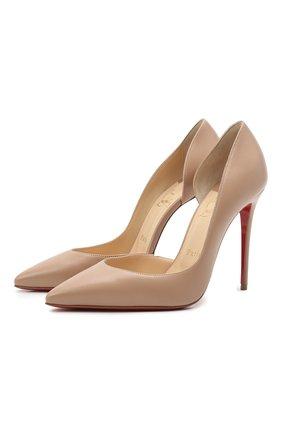 Женские кожаные туфли iriza 100 CHRISTIAN LOUBOUTIN бежевого цвета, арт. 3160708/IRIZA 100 | Фото 1