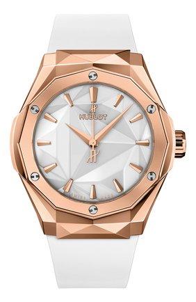 Мужские часы orlinski king gold white HUBLOT белого цвета, арт. 550.OS.2200.RW.ORL20 | Фото 1