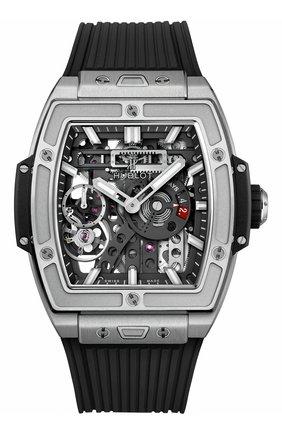 Мужские часы meca-10 titanium HUBLOT черного цвета, арт. 614.NX.1170.RX | Фото 1