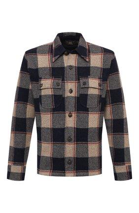Мужская рубашка из шерсти и кашемира RRL разноцветного цвета, арт. 782826667 | Фото 1