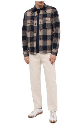 Мужская рубашка из шерсти и кашемира RRL разноцветного цвета, арт. 782826667 | Фото 2