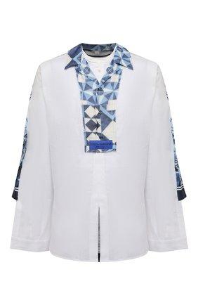Мужская рубашка DOLCE & GABBANA белого цвета, арт. G5I03T/GEQ37 | Фото 1