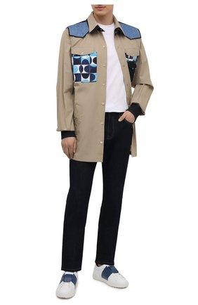 Мужская хлопковая рубашка DOLCE & GABBANA бежевого цвета, арт. G5IP9T/GEQ87 | Фото 2 (Длина (для топов): Стандартные; Материал внешний: Хлопок; Рукава: Длинные; Стили: Кэжуэл; Случай: Повседневный; Манжеты: На кнопках; Рубашки М: Classic Fit; Принт: С принтом; Воротник: Кент)