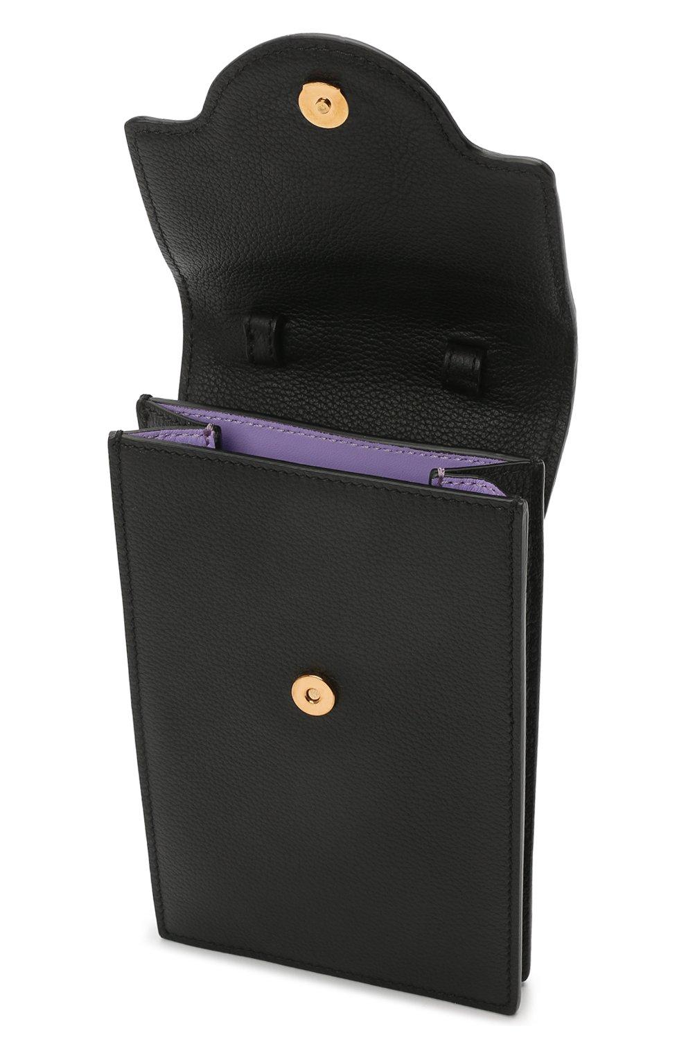 Кожаный чехол для телефона la medusa VERSACE черного цвета, арт. DP8I060/DVIT2T | Фото 4