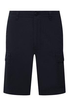 Мужские хлопковые шорты POLO RALPH LAUREN темно-синего цвета, арт. 710835030 | Фото 1 (Материал внешний: Хлопок; Длина Шорты М: До колена; Принт: Без принта; Стили: Кэжуэл; Мужское Кросс-КТ: Шорты-одежда)