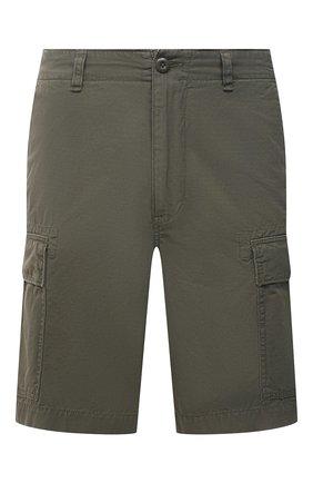Мужские хлопковые шорты POLO RALPH LAUREN хаки цвета, арт. 710835030   Фото 1