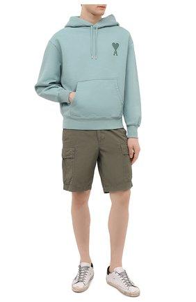 Мужские хлопковые шорты POLO RALPH LAUREN хаки цвета, арт. 710835030   Фото 2
