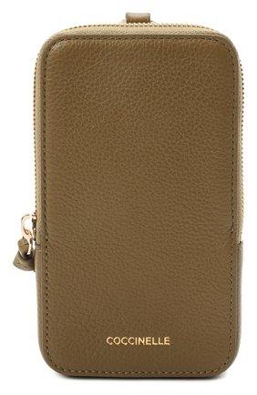 Кожаный чехол для iphone COCCINELLE зеленого цвета, арт. E2 HJF 17 22 01 | Фото 1
