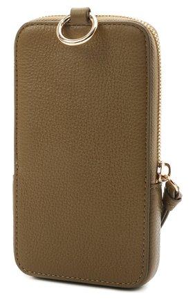 Кожаный чехол для iphone COCCINELLE зеленого цвета, арт. E2 HJF 17 22 01 | Фото 2